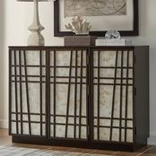 Scott Living Contemporary Accent Cabinet with Geometric Design