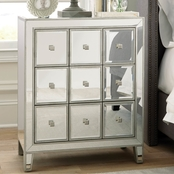 Scott Living Glam Mirrored Accent Cabinet