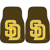 Fan Mats MLB San Diego Padres 17 x 27 In. Carpeted 2 Pc. Car Mat Set