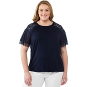 AGB Plus Size Crochet Tee
