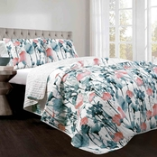 Lush Decor Zuri Floral 3 Pc. Quilt Set