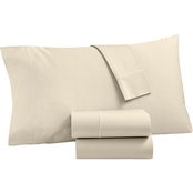 Martha Stewart Collection Organic 300 Thread Count 4 Pc Sheet Set