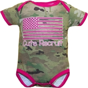 Trooper Clothing Infant Girls Multicam Cute Recruit Bodysuit