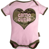 Trooper Clothing Infant Girls Multicam Camo Cutie Bodysuit