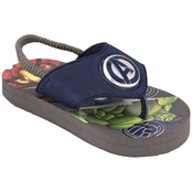 Marvel Boys Avengers Lighted Flip Flops