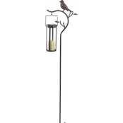 Smart Solar Provence Bird Stake with Solar LED Candle Lantern