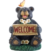 Smart Solar Solar Welcome Bear with Butterfly
