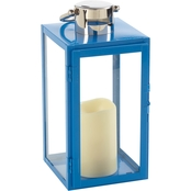Smart Living Nemo 11 In. LED Candle Lantern Blue