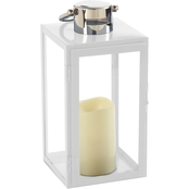 Smart Living Nemo 11 in. LED Candle Lantern White