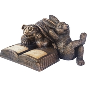 Smart Solar Reading Tortoise & Hare Solar Statue
