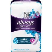 Always Discreet Heavy Long Pads, 39 ct.