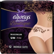 Always Discreet Boutique Maximum Incontinence Underwear, 12 ct.