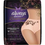 Always Discreet Boutique Maximum Incontinence Underwear, 10 ct.