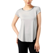 Alfani Satin Trim High Low Tee