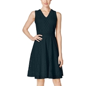 Charter Club Lace Fit and Flare Dress