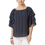 Charter Club Petite Tiered Sleeve Top