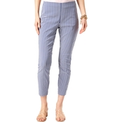 INC International Concepts Petite Mixed-Stripe Cropped Skinny Pants
