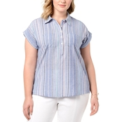 Style & Co. Plus Size Cotton Striped Top
