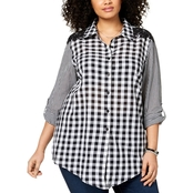 Style & Co. Plus Size Cotton Gingham Tunic