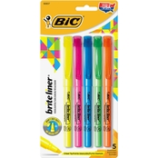 BIC Brite Liner Fluorescent Highlighter 5 Pc. Set