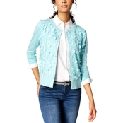 Charter Club Floral Applique Cardigan