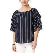 Charter Club Tiered Sleeve Top