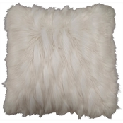 Chesapeake Jacquard Faux Fur 18 x 18 in. Pillow