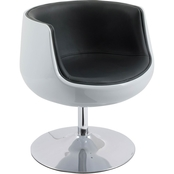 CorLiving Modern Bonded Leather Barrel Chair