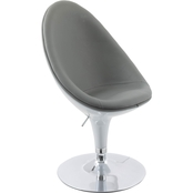 CorLiving Modern Bonded Leather Ellipse Chair