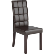 CorLiving Atwood Dark Brown Leatherette Dining Chair 2 pk.