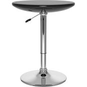CorLiving Glossy Adjustable Height Round Bar Table