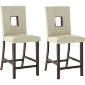 CorLiving Bistro Counter Height Dining Chair 2 pk.