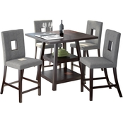 CorLiving Bistro 5 pc. Counter Height Cappuccino Dining Set