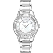 Bulova Women's Crystal TurnStyle Watch 32.5MM 96L257