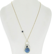 Panacea Triple Hoop Beaded Crystal Pendant, 28 + 2 In.