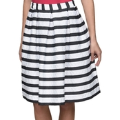 Armani Exchange Stripe Circle Skirt