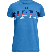 Under Armour Girls Americana USA SS T