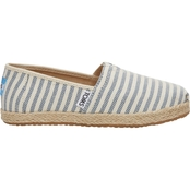TOMS Boys Sky Woven Stripe Rope Sole Classic Slip On Shoes