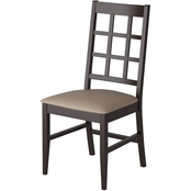 CorLiving Atwood Dining Chairs with Leatherette Seat 2 pk.