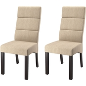 CorLiving Antonio Tall Back Upholstered Dining Chairs 2 pk.