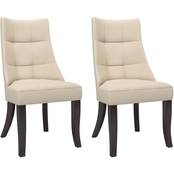 CorLiving Antonio Tufted Dining Accent Chairs 2 pk.