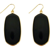 Panacea Cut Stone Oval Earrings