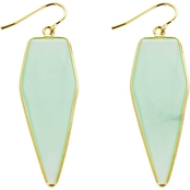 Panacea Cut Stone Geometric Earrings