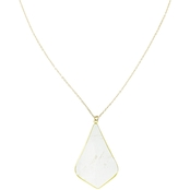 Panacea Cut Stone Long Pear Shape Pendant