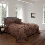 Lavish Home Charlize Series Hypoallergenic 2 Pc. Oversized Quilt and Sham Set