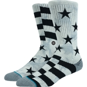 Stance SideReal Crew Socks Grey