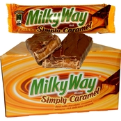 M&M Mars Milky Way Simply Caramel Candy Bar 24 ct.