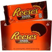 Hershey's Reese's Dark Chocolate Peanut Butter Cups, 24 ct.