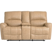 Bassett Club Level Avon Power Reclining Loveseat