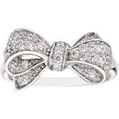 Disney Enchanted Sterling Silver 1/2 CTW Diamond Snow White Bow Ring